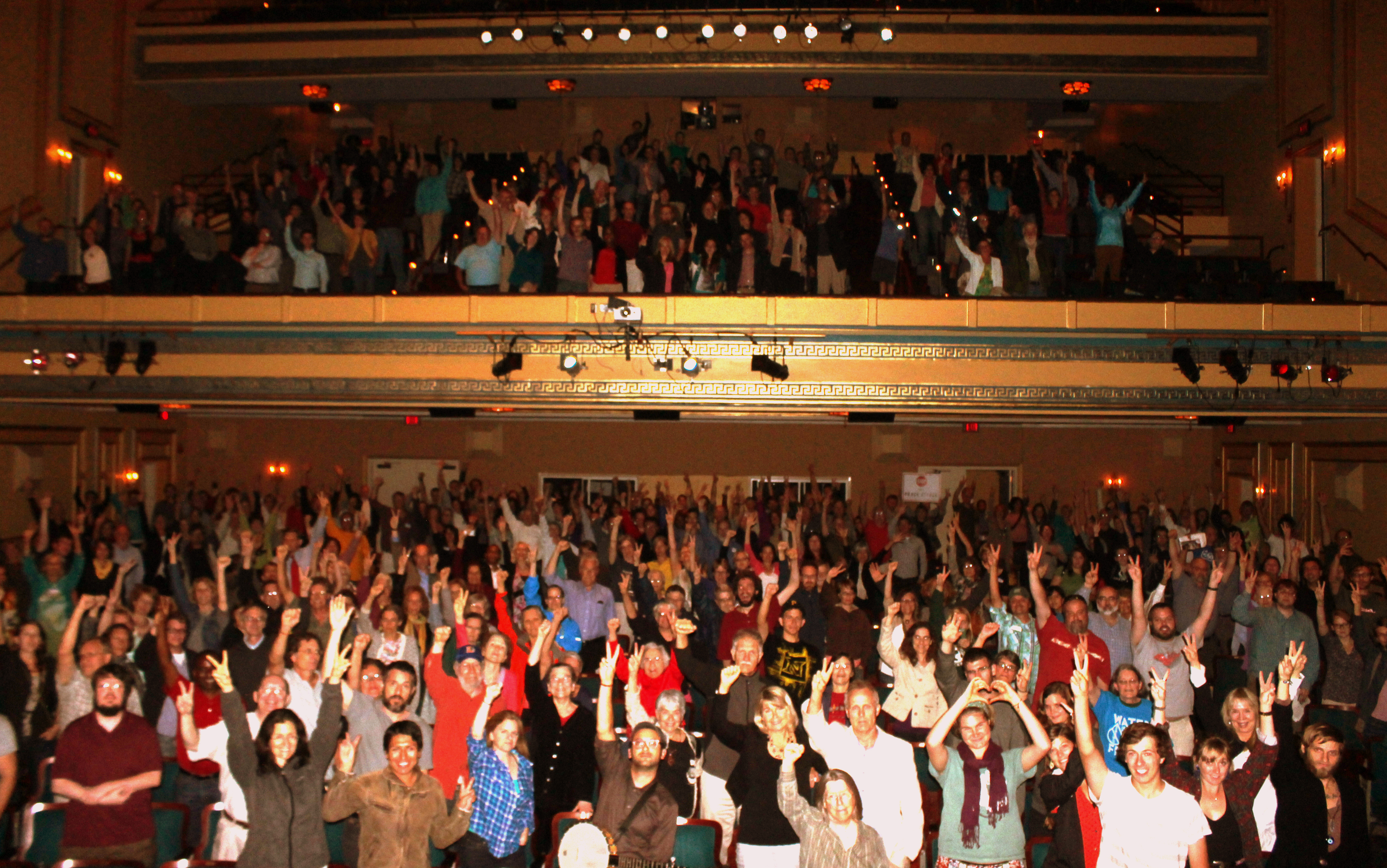 An energetic audience at the Carolina Theater of Durham!