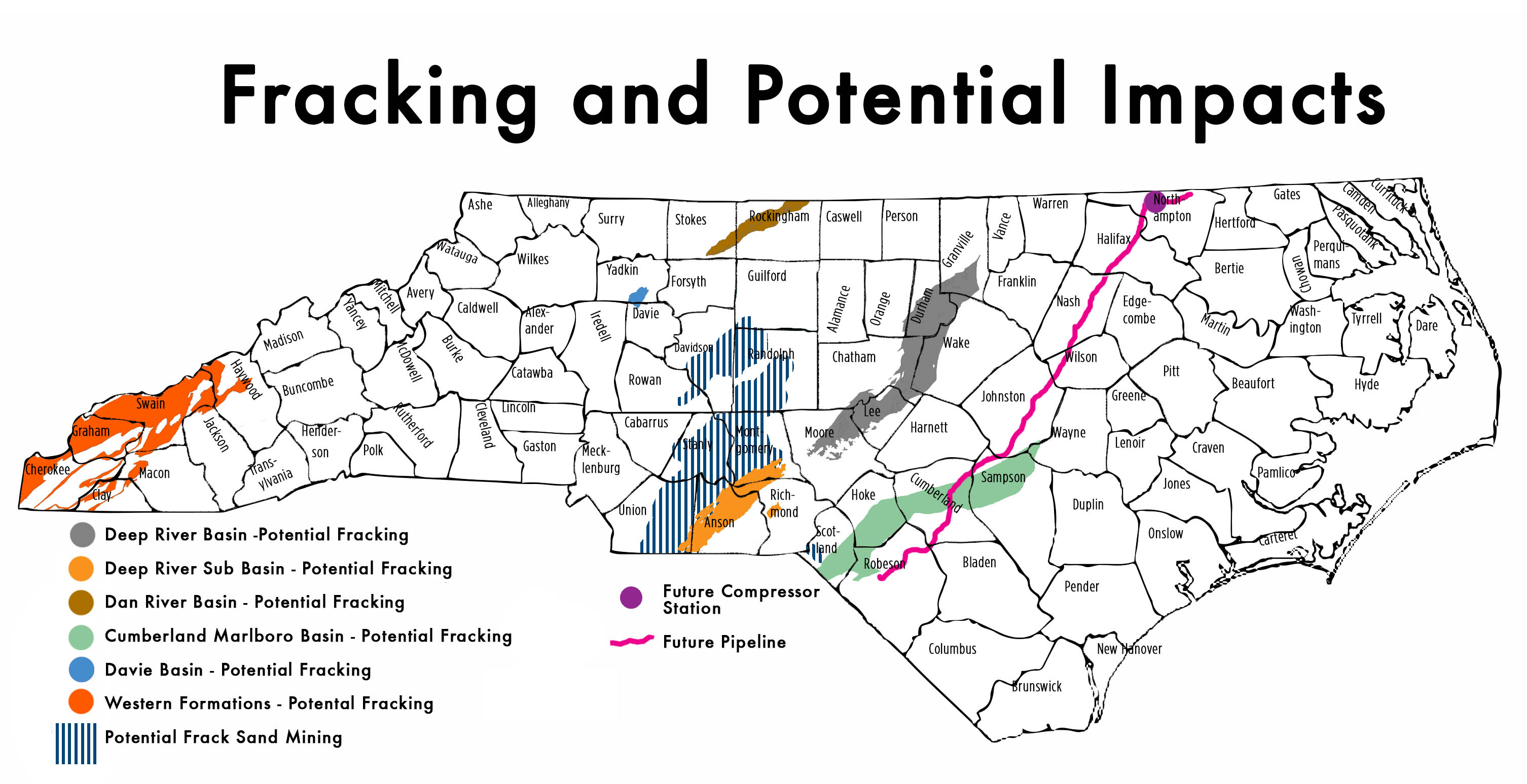 Factsheets Reports Frack Free NC - Us fracking map 2016